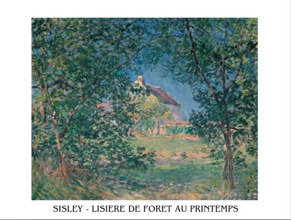 Edge of the Forest in Spring, 1885 Reproduction d'art