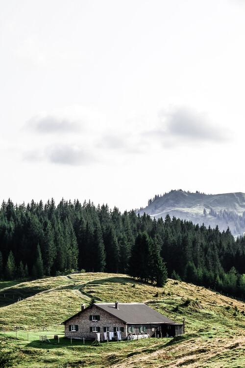 Eksklusiiviset taidevalokuvat A hut in the alps
