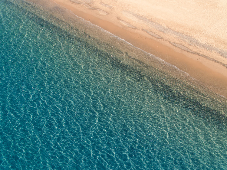 Eksklusiiviset taidevalokuvat Aarial mediterranean beach