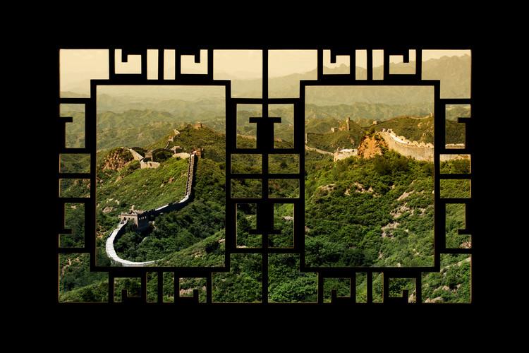 Eksklusiiviset taidevalokuvat Asian Window - Great Wall of China