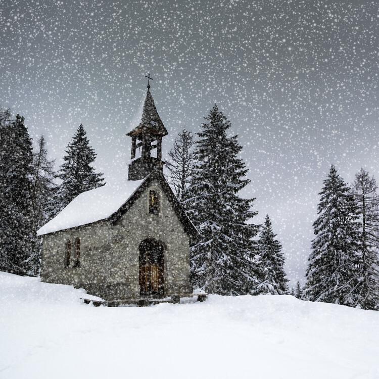 Eksklusiiviset taidevalokuvat Bavarian Winters Tale Anna Chapel