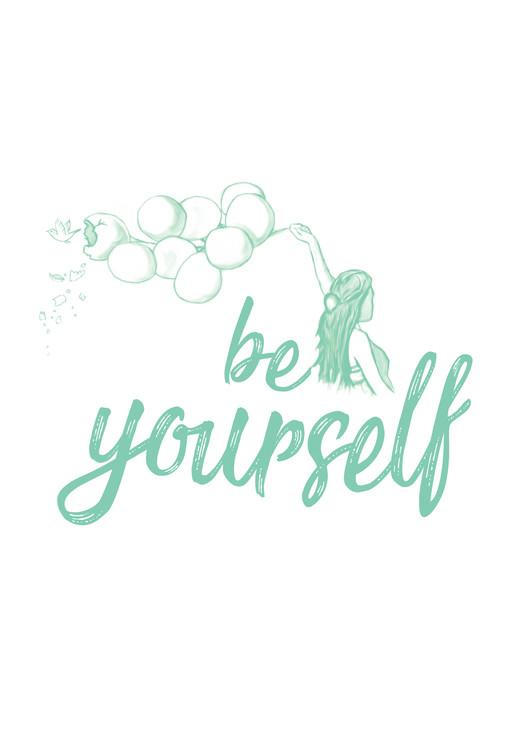 Eksklusiiviset taidevalokuvat Be yourself - Blue