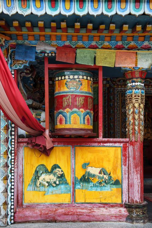 Eksklusiiviset taidevalokuvat China 10MKm2 Collection - Buddhist Prayer Wheel