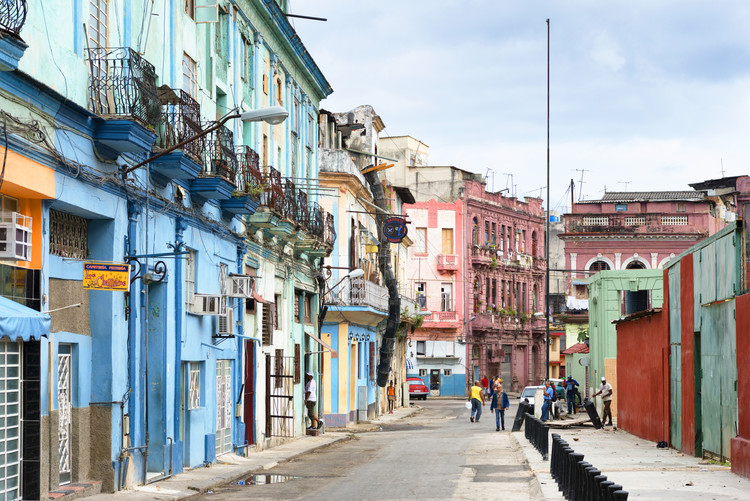 Eksklusiiviset taidevalokuvat Colorful Architecture of Havana