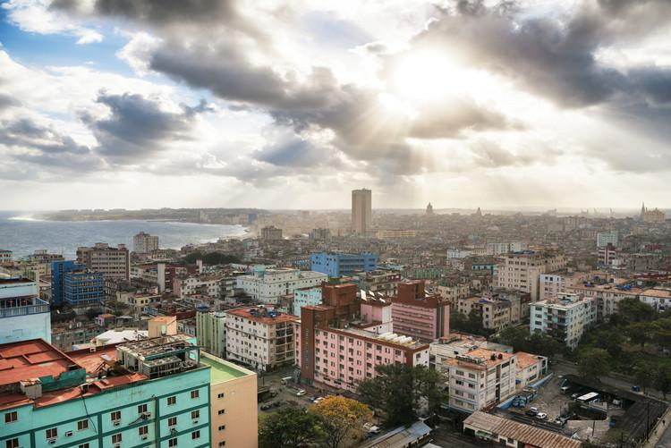 Eksklusiiviset taidevalokuvat Rays of light on Havana