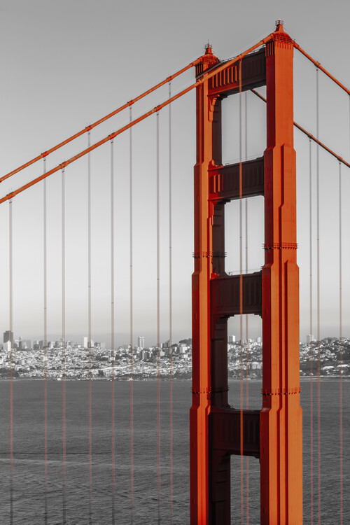 Eksklusiiviset taidevalokuvat SAN FRANCISCO Golden Gate Bridge | colorkey