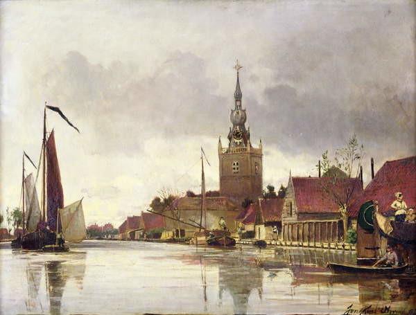 View of Overschie near Rotterdam, 1856 Taidejuliste