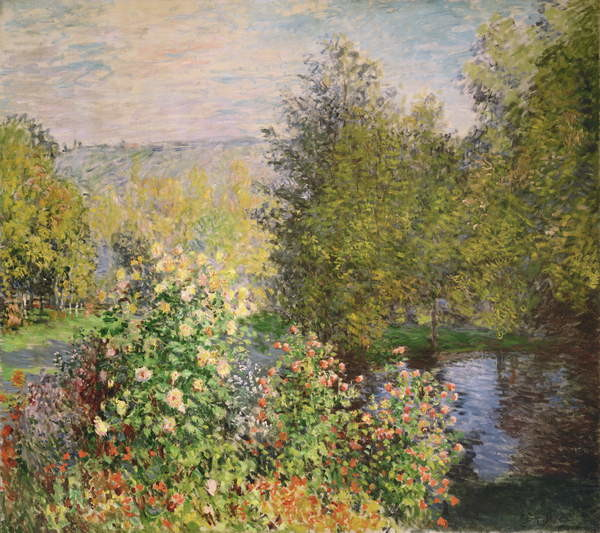 A Corner of the Garden at Montgeron, 1876-7 Taidejuliste