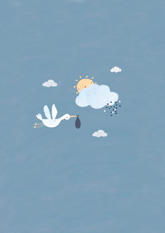 Eksklusiiviset taidevalokuvat Baby boy stork