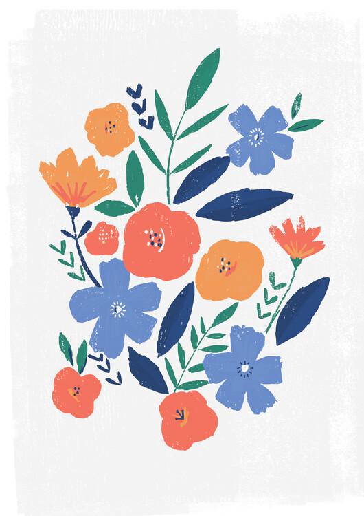 Eksklusiiviset taidevalokuvat Bold floral