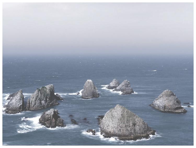Eksklusiiviset taidevalokuvat Border cliff sand ocean