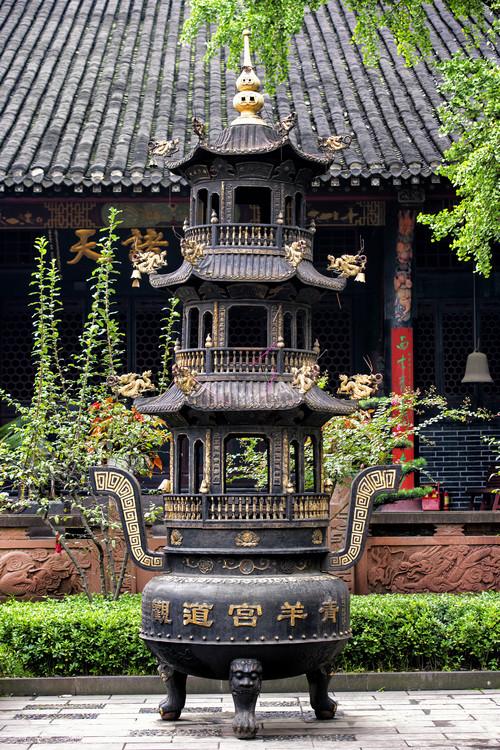 Eksklusiiviset taidevalokuvat China 10MKm2 Collection - Brazier and Pagoda