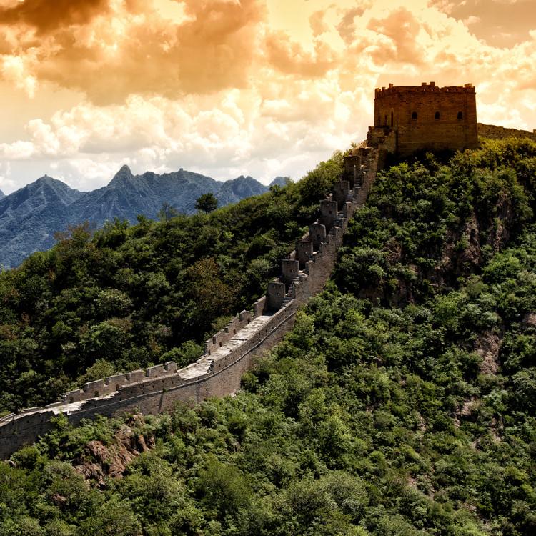 Eksklusiiviset taidevalokuvat China 10MKm2 Collection - Great Wall of China at Sunset
