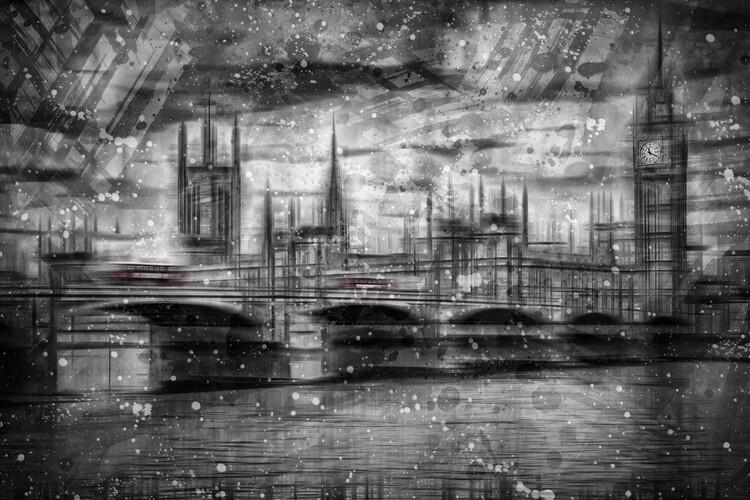 Eksklusiiviset taidevalokuvat City Shapes LONDON Houses of Parliament