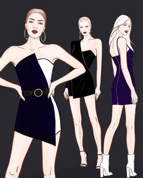 Eksklusiiviset taidevalokuvat Fashion Girls - 2
