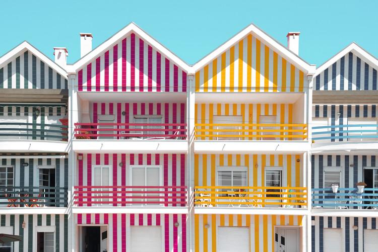 Eksklusiiviset taidevalokuvat Four Houses of Striped Colors