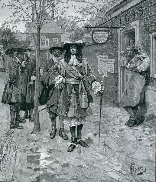 Governor Andros and the Boston People, engraved by A. Whitney, from Harper's Magazine, 1883 Taidejuliste