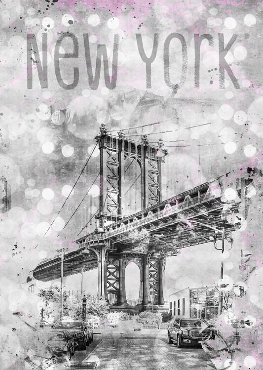 Eksklusiiviset taidevalokuvat Graphic Art NEW YORK CITY Manhattan Bridge