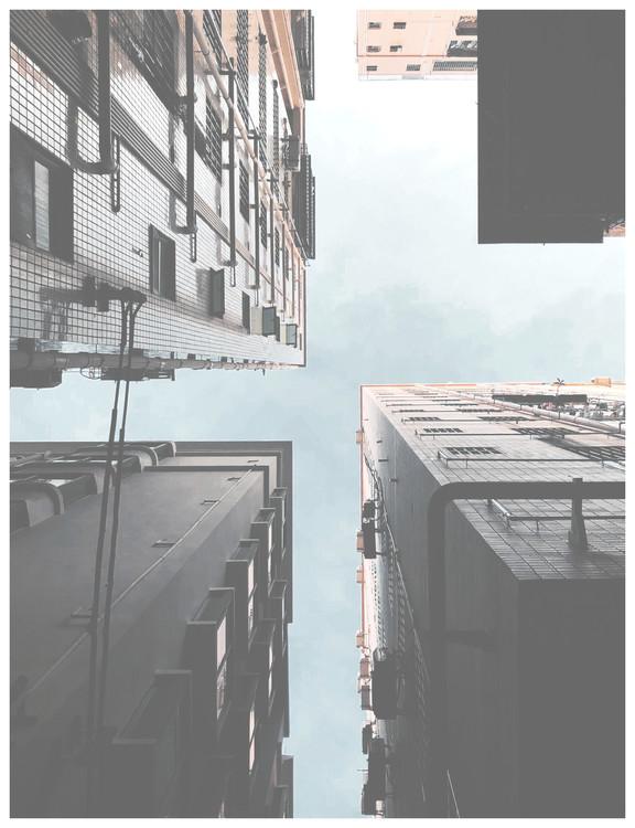 Eksklusiiviset taidevalokuvat high rises ground view