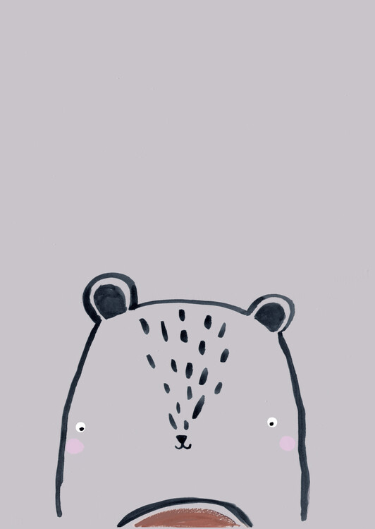 Eksklusiiviset taidevalokuvat Inky line teddy bear