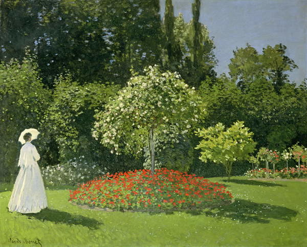 Jeanne Marie Lecadre in the Garden, 1866 Taidejuliste