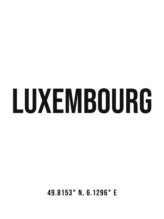 Eksklusiiviset taidevalokuvat Luxembourg simple coordinates