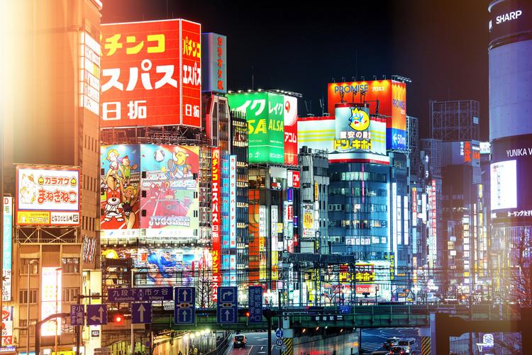 Eksklusiiviset taidevalokuvat Night in Shinjuku