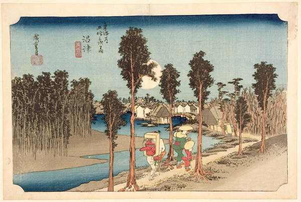 Numazu - Twilight, from the series, '53 Stations on the Eastern Coast Road', 1833 Canvas-taulu