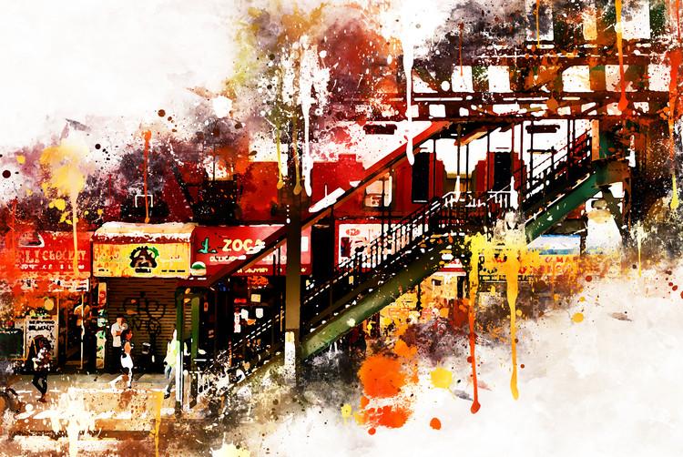Eksklusiiviset taidevalokuvat NYC Watercolor 032