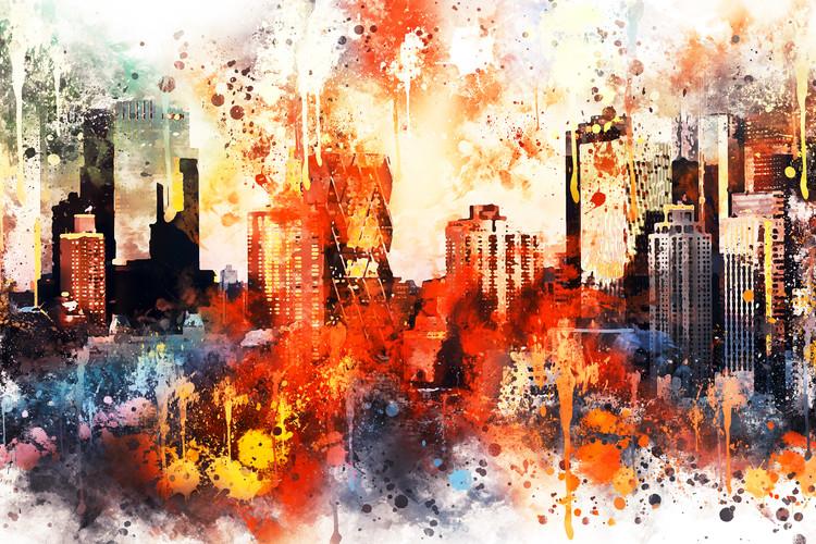 Eksklusiiviset taidevalokuvat NYC Watercolor 124