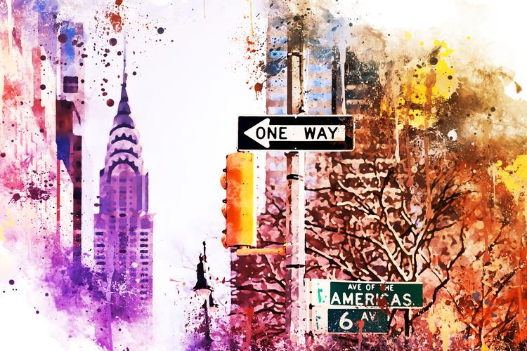 Eksklusiiviset taidevalokuvat NYC Watercolor 154