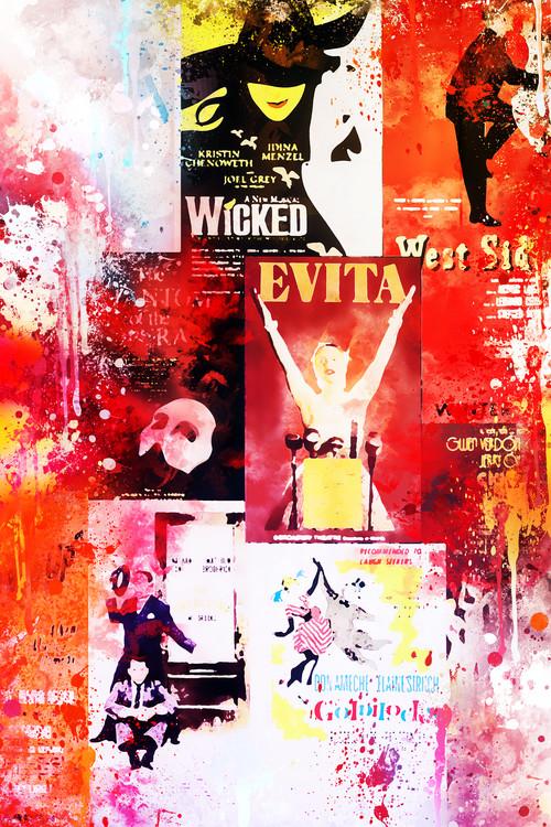 Eksklusiiviset taidevalokuvat NYC Watercolor 160