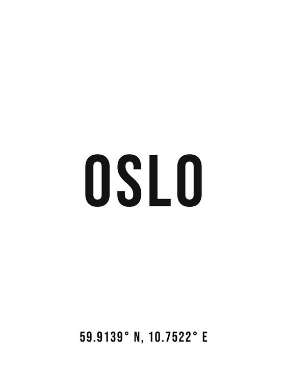 Eksklusiiviset taidevalokuvat Oslo simple coordinates