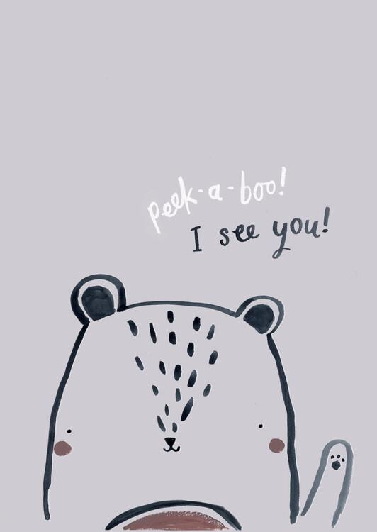 Eksklusiiviset taidevalokuvat Peek a boo bear