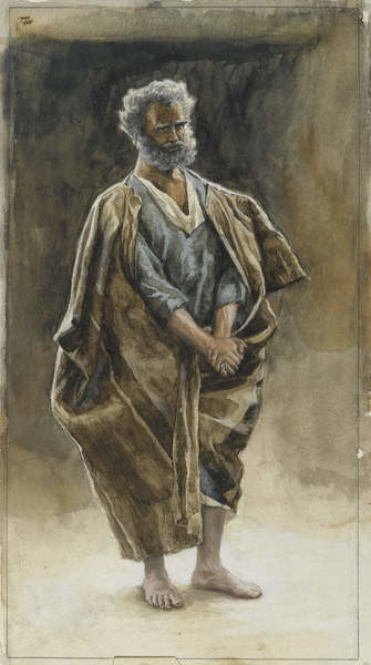 Saint Peter, illustration from 'The Life of Our Lord Jesus Christ', 1886-94 Taidejuliste
