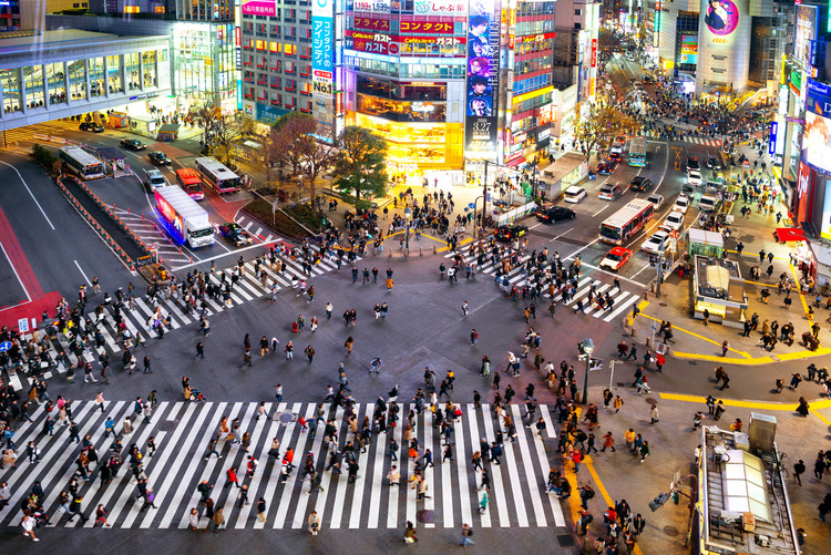 Eksklusiiviset taidevalokuvat Shibuya Crossing Tokyo