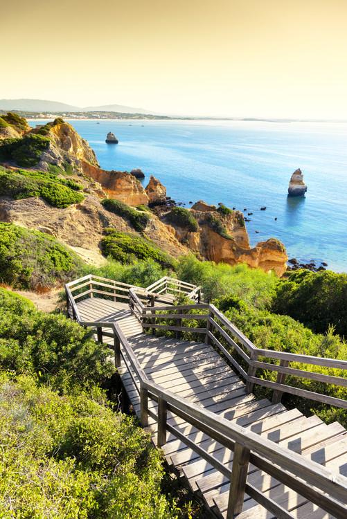 Eksklusiiviset taidevalokuvat Stairs to Camilo Beach at Sunset