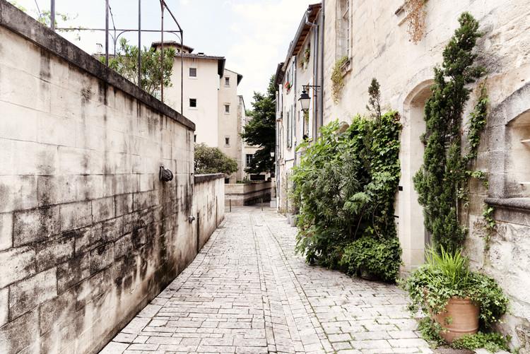 Eksklusiiviset taidevalokuvat Street Scene in Uzès