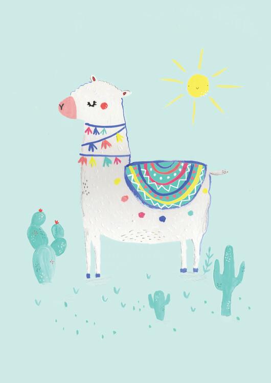 Eksklusiiviset taidevalokuvat Sunshine llama