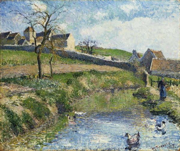 The Farm at Osny, 1883 Taidejuliste
