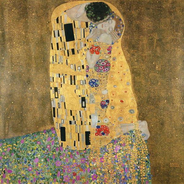 The Kiss, 1907-08 Taidejuliste