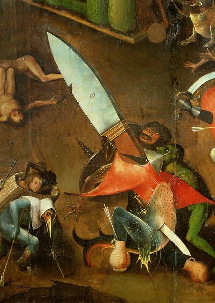 The Last Judgement : Detail of the Dagger Canvas-taulu