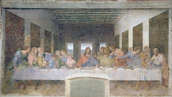 The Last Supper, 1495-97 (fresco) Canvas-taulu