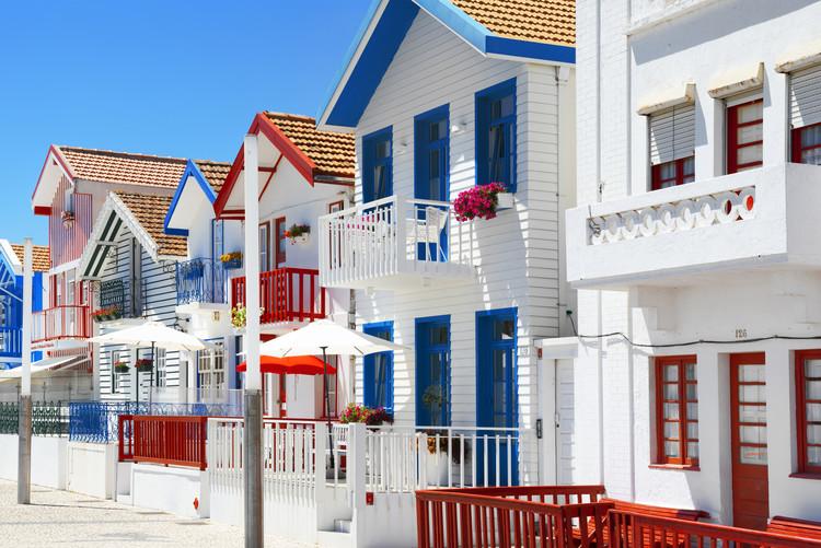 Eksklusiiviset taidevalokuvat Typical Houses of Costa Nova