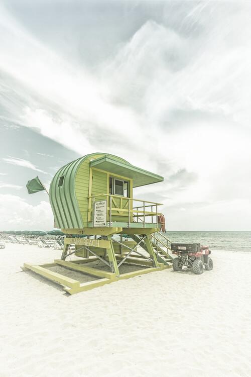 Eksklusiiviset taidevalokuvat Vintage Florida Flair At Miami Beach