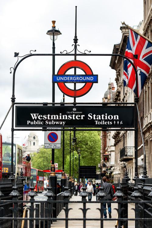 Eksklusiiviset taidevalokuvat Westminster Station Underground