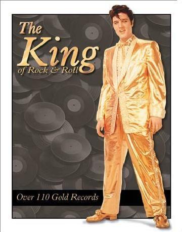 ELVIS PRESLEY- Gold Lame' Suit Plaque métal décorée