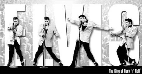 Elvis Presley - King Montage Plaque métal décorée