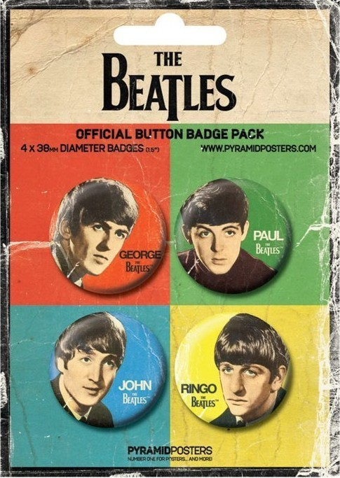 THE BEATLES - John, Paul, George and Ringo - Emblemas