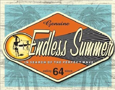 ENDLESS SUMMER - genuine Plaque métal décorée